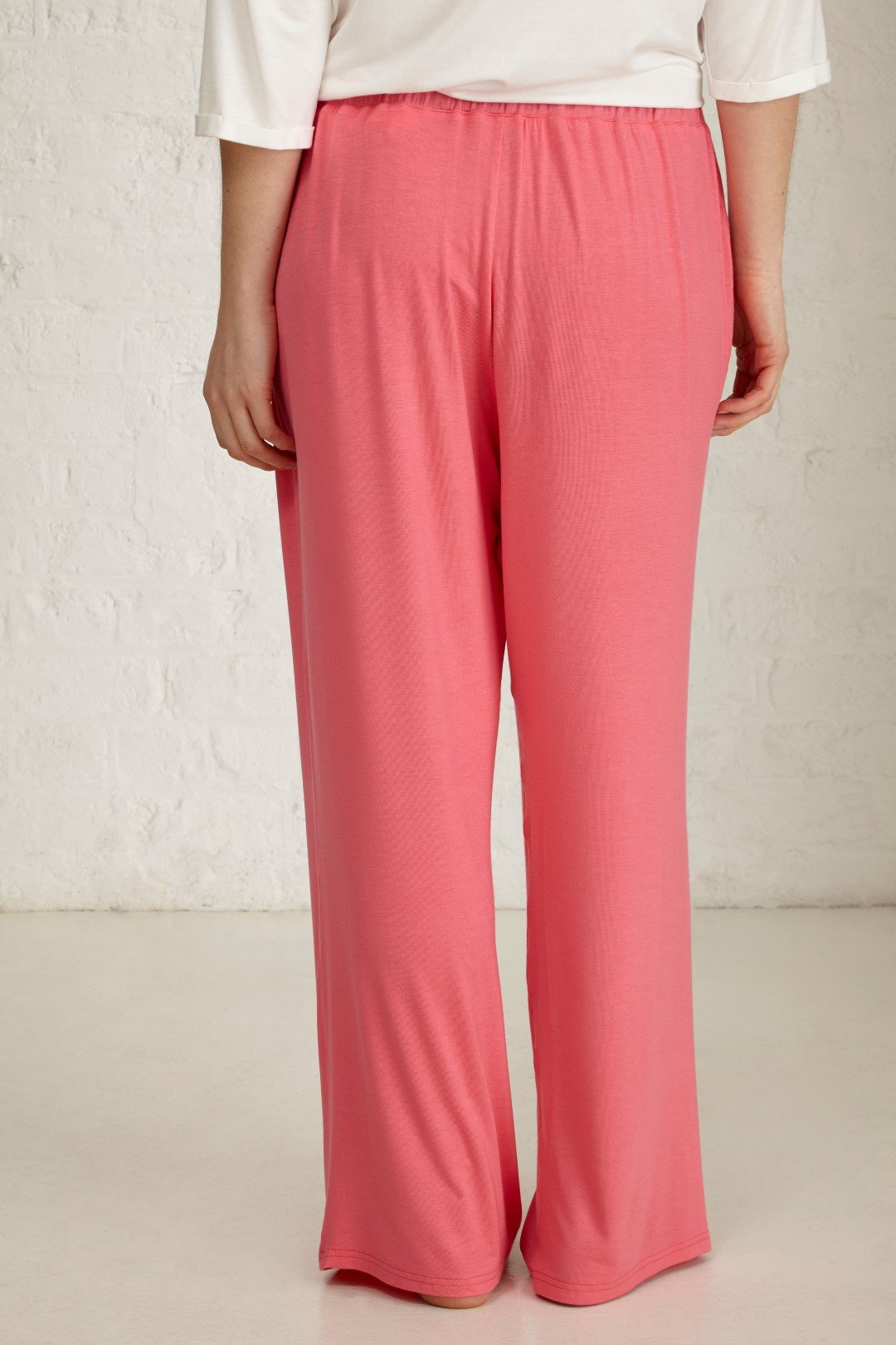 pink jersey trousers