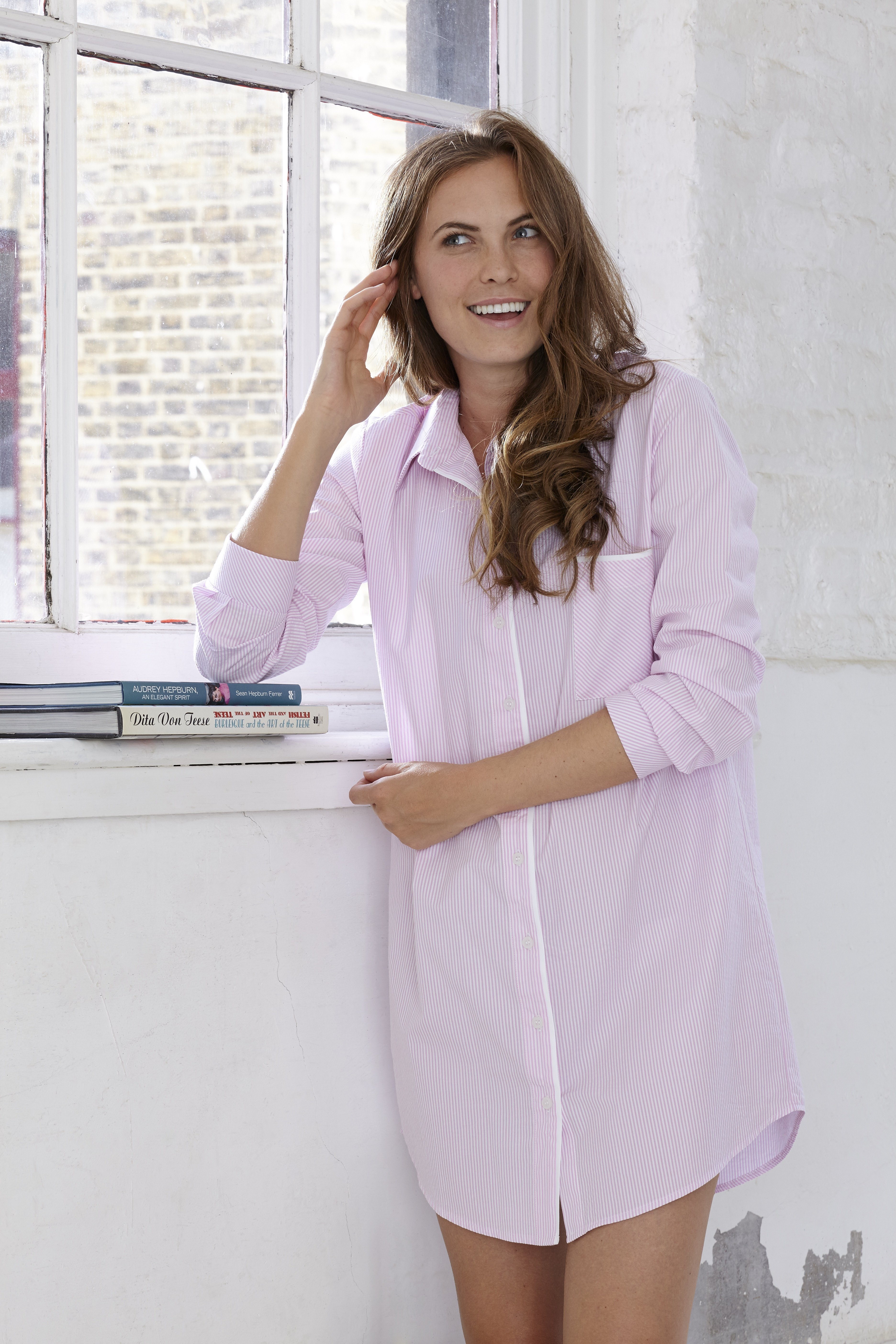 Seersucker Stripe Nightshirt. Home › Shop › Seersucker Stripe Nightshirt 697f74d9b